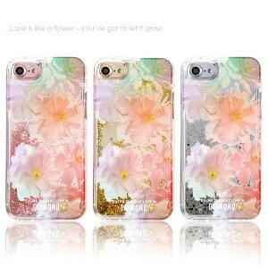 キラキラ動くグリッターキラキラiPhoneケースiPhoneXケース流れるiPhone8ケースiPhone7ケースiPhone6/6siPhone8PlusラメiPhone7Plus星iPhone6Plusデコglitterflower自分でカスタマイズしても、そのままでも可愛いグリッターケースです!