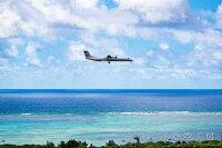 ポストカード空雲星月飛行機花海風景空の写真家フォトグラファー写真「石垣空港JAL(ボンバルディア)」のポイント対象リンク