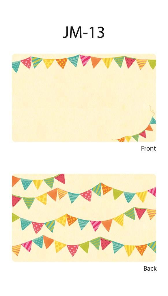 ミニメッセージカード(12枚入り)☆種類たくさん!可愛いおしゃれアート