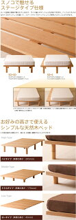 木製ベッドフレーム「ジーノ【ヘッドレスタイプ】」石崎家具