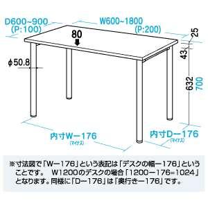 【送料無料】サンワサプライMEデスク机幅1800×奥行き800mmME-18080N