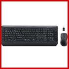 マウス付きワイヤレスキーボードブラックSKB-WL18SETBK