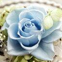 【即納】 プリザーブドフラワー 結婚祝い 誕生日プレゼント Serena セレナ −08 ライトブルー- プリザ ギフト お祝い 花 ブリザード 電報 結婚式 敬老の日 プレゼント特集 入園 入学 卒業 卒園の商品画像
