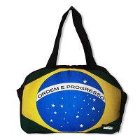 【ブラジル国旗柄】大容量ボストンバッグ【BRASIL】 ブラック