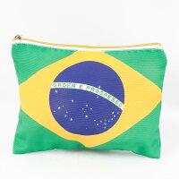 ブラジル国旗柄ポーチ両面デザイン