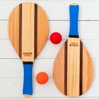 フレスコボールラケットセットIpanema【SORTEORIGINAL】屋外・屋内ボール2個セット&専用トートバッグ付き