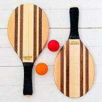 フレスコボールラケットセットLeblon【SORTEORIGINAL】屋外・屋内ボール2個セット&専用トートバッグ付き