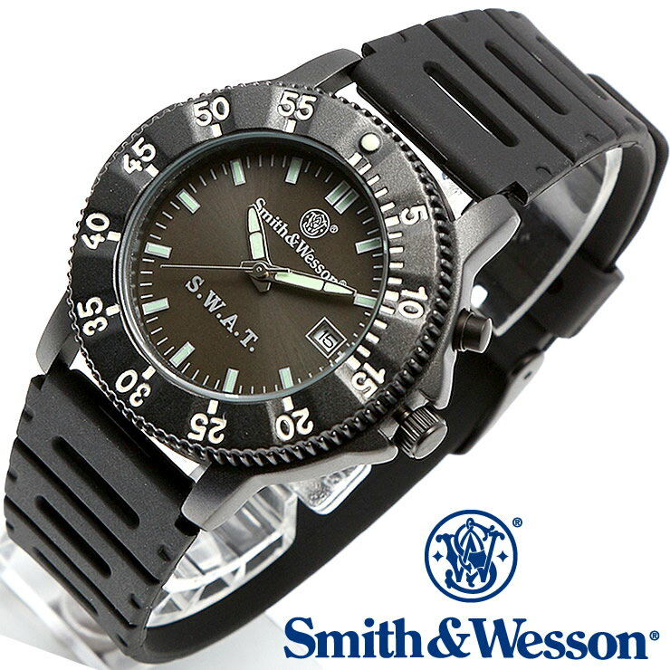 [正規品] スミス&ウェッソン Smith & Wesson ミリタリー腕時計 SWAT WATCH BLACK SWW-45 [あす楽] [送料無料]
