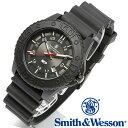 [正規品] スミス&ウェッソン Smith & Wesson スイス トリチウム ミリタリー腕時計 SWISS TRITIUM M&P WATCH BLACK/BLACK SWW-MP18-BLK [あす楽] [送料無料]