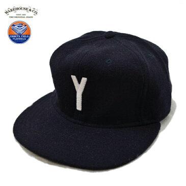 EBBETS FIELD FLANNELS × WAREHOUSE【ウエアハウス】1940'S VARSITY WOOL BASEBALL CAP Y エベッツフィールドフランネルズ ベースボールキャップ