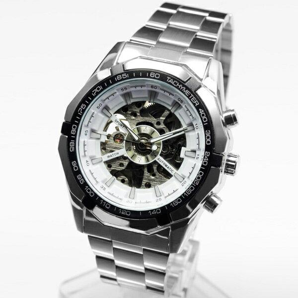 自動巻き腕時計 メンズ  1年保証 BOX付き 全2色 メンズ 腕時計 自動巻き フルスケルトン 自動巻き腕時計 W0525 AOR-A