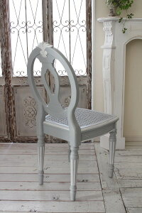 シャビーシックなダイニングチェア椅子カントリーコーナー【CountryCorner】Gustavienコレクション木製チェアフレンチカントリーグレーアンティーク風フランス【送料無料】