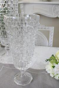 ガラス花器・ビエトラトールS花瓶ベースヨーロピアン型洋風輸入雑貨シャビーシックヨーロピアン雑貨アンティーク風