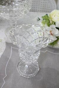 ガラス花器・コスミオンハイベース花瓶ベースヨーロピアン型洋風輸入雑貨シャビーシックヨーロピアン雑貨アンティーク風