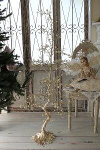 クリスマスオーナメント♪(プラチナムパールツリー)シャビーシックフレンチロマンティック可愛いクリスマス飾りクリスマスツリークリスマスオブジェ