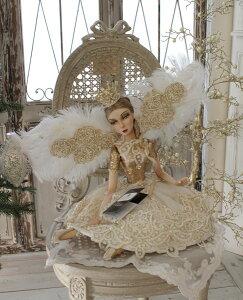 クリスマスオーナメント♪(クラウンフェアリー・座り)妖精ドール人形置物シャビーシックフレンチロマンティック可愛いクリスマス飾りクリスマスオブジェ