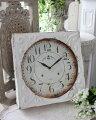 スタイルロココ ホワイトスチール・ウォールクロック 掛時計 クォーツ時計 白色 シャビーシック フレンチカントリー アンティーク 雑貨 アンティーク風 姫系 antique