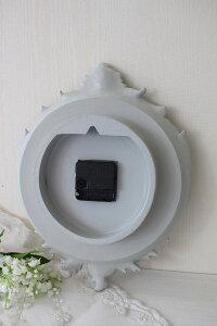 フレンチグレーのデコラティブ掛け時計フレンチシック輸入雑貨アンティーク風シャビーシックフレンチカントリーantique