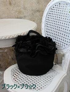 NEW♪♪フリルの巾着トートバッグ(8色有り)手提げサブバッグエコバッグポリエステル製軽量お洒落可愛い