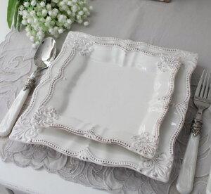 アンティーク風なフレンチ食器シェルシリーズ【ケーキプレートケーキ皿】フレンチ食器フランスアンティーク調陶器フレンチカントリーシャビー