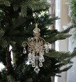 スタイルロココ X'mas♪♪ シャンデリア型オーナメント クリスマスオーナメント ツリーオーナメント シャビーシック フレンチカントリー アンティーク 雑貨 輸入雑貨 antique shabby chic