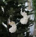 スタイルロココ X'mas♪♪ ガラスピーコックオーナメント(シルバー・ゴールド) クリスマスオーナメント ツリーオーナメント シャビーシック フレンチカントリー アンティーク 雑貨 輸入雑貨 antique shabby chic