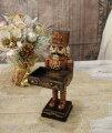 スタイルロココ X'mas♪♪ くるみ割り人形のカードスタンド 置物 オブジェ クリスマス ディスプレイ シャビーシック フレンチカントリー アンティーク 雑貨 輸入雑貨 antique shabby chic
