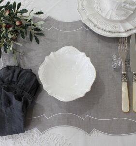 シャビーシックなフレンチ食器【パリスシリーズサラダボウルボウル】アンティーク風陶器アンティーク食器白い食器お洒落