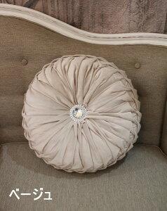 アンティークスタイル♪ベルベットのラウンドクッション丸型クッションシャビーシックアンティーク風フレンチカントリーフランスantiqueshabbychic