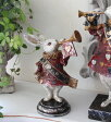 アリスラビット・不思議の国のアリスから♪♪ ウサギS ラビット 置物 【フレンチカントリー、シャビー、ヨーロピアン雑貨】