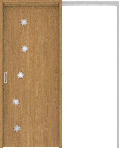 ハピアベイシス 吊戸・引込 S5デザイン扉セット 2000高 1645幅 ティーブラウン 大建工業の建具:住まコレ