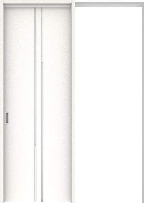 ハピアプレミア 吊戸・引込 7Pデザイン扉セット 2300高 1645幅 モノホワイト柄 大建工業の建具:住まコレ