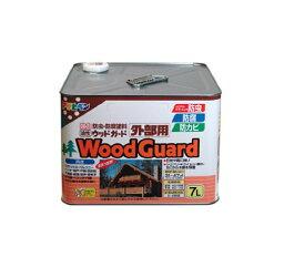 【2セット】アサヒペン 油性 ウッドガード外部用 ライトオーク 塗料 7L 正規品保証