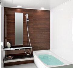 58%オフ TOTOのバスルーム スクエア水栓・洗面器置台カウンタータイプひろがるWFほっカラリ床シ...