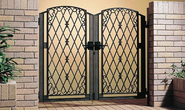 ファンタジア 鋳物門扉 両開きセット:住まコレ