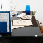 パソコンデスク幅85cm奥行45cmネイルデスクにもガラス天板デスクパソコン机ワークデスクネイルテーブルガラスデスク机PCデスク収納つくえ家具