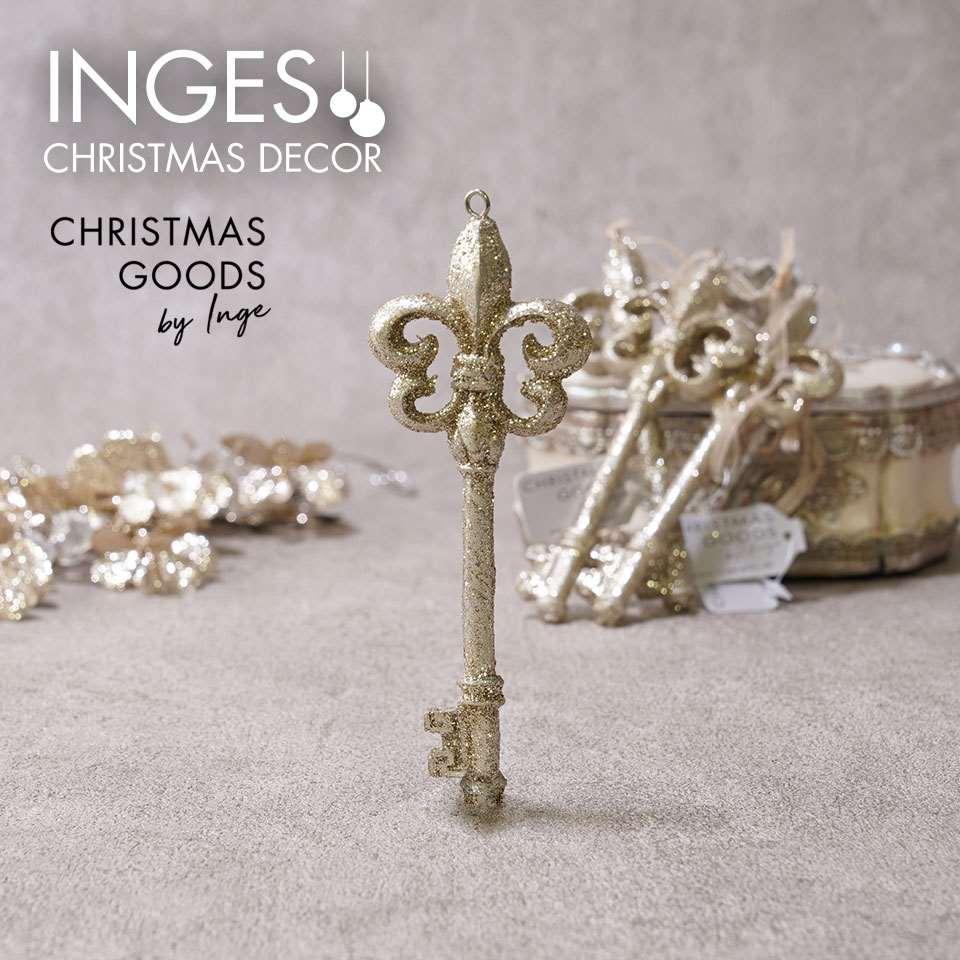 INGE-GLAS GOODS インゲグラス グッズ カギのオーナメント インテリア小物 クリスマスデコレーション 飾り付け ドイツ画像
