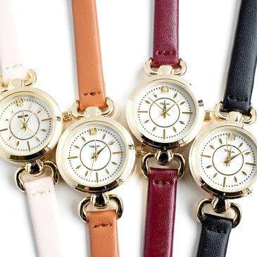 一粒ダイヤモンドの本革ベルト腕時計 丸型 レディース 日本製ムーブメント メイドインジャパンムーブメント ラグジュアリー カジュアル ホワイト ワインレッド ブラック オレンジブラウン ダイヤマル