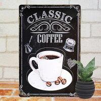 ブリキ看板eコーヒーclポスターインテリアカフェcafecoffee雑貨チョークアートチョークアート黒板アート壁掛けサインボードサインプレートアートパネルアメリカン雑貨