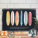 ブリキ看板e サーフィン サーフボード 6