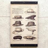 木製看板50帽子ハットノスタルジックアートインテリアプレート麦わら帽子ハンチングウッドプレートカフェBARレストランレトロ風