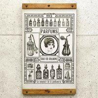 木製看板50香水Parfumsパフュー厶ノスタルジックアートインテリアプレートコロン化粧品コスメウッドプレートカフェBARレストランレトロ風