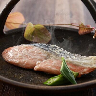 北海道産の脂のりの良い時鮭(ときしらず)のレンジ蒸し
