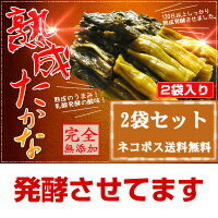 『乳酸発酵の高菜漬(2袋セット☆☆)』【メール便対応1通1セット】樽の味 お歳暮 御歳暮