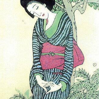 むす美/musubi風呂敷竹久夢二シャンタン友禅二四巾(90cm)袋入