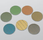 【NCA】AG−PFSフロアポリッシャー用大理石用(ダイヤモンド研粒研磨布紙)黄緑/黒/緑