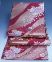 流水に桜模様の袋帯