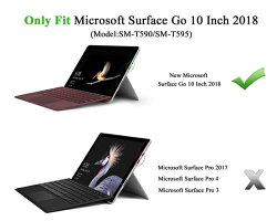 NEW-SurfaceGo10ケース-ATiCSurfaceGo10インチタブレット専用ペンホルダー付き収納スロット付きスタンドケースキーボードも収納できるサフェイスプロカバー耐衝撃保護ケース