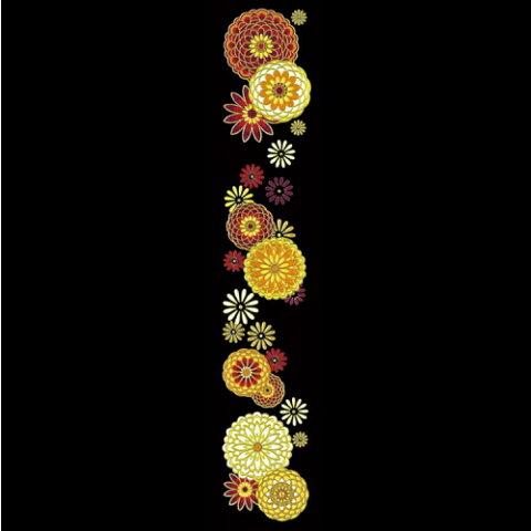 彩蒔絵本舗 舞妓はんの華かんざし【10月/菊】スマートフォンやお持ちのアイテムをお洒落れに飾る蒔絵シール【メール便】10P03Sep16