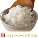 【新米予約】 福島県産コシヒカリ10kg(5kg×2) 白米 令和元年新米 10月下旬から出荷予定